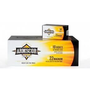 Armscor Rimfire  Ammunition .22 WMR 40 gr JHP 1838 fps 50/ct
