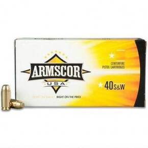 Armscor Handgun Ammunition .40 S&W 180 gr JHP 950 fps 20/ct