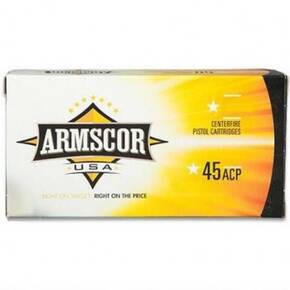 Armscor Handgun Ammunition .45 ACP 230 gr JHP 825 fps 20/ct