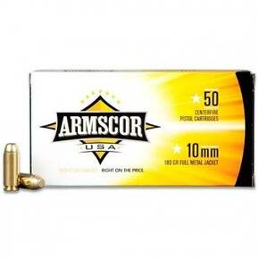 Armscor Handgun Ammunition 10mm 180gr FMJ 1008 fps 50/ct