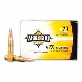 Armscor Rifle Ammunition .223 Rem 62 gr FMJ 2963 fps 20/ct
