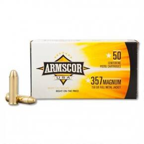 Armscor Handgun Ammunition .357 Mag 158 gr FMJ 1826 fps 50/ct