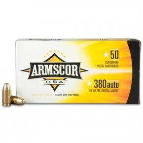 Armscor Handgun Ammunition .380 ACP 95 gr FMJ 920 fps 50/ct