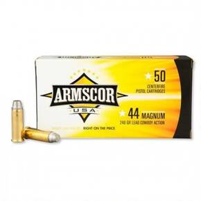 Armscor Handgun Ammunition .44 Mag 240 gr SWC 950 fps 50/ct