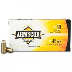 Armscor Handgun Ammunition .45 ACP 230 gr FMJ 849 fps 50/ct