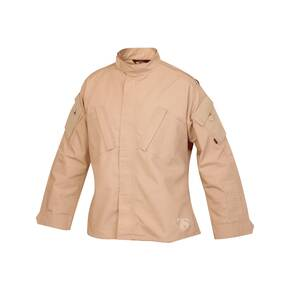 Tru-Spec Tactical Response Uniform (TRU) Shirt - 65/35 Polyester/Cotton Rip-Stop Khaki Medium