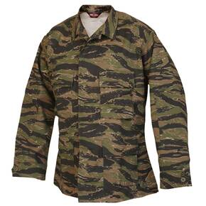 Tru-Spec BDU Coat - 60/40 Cotton Polyester Twill Vietnam Tiger Stripe