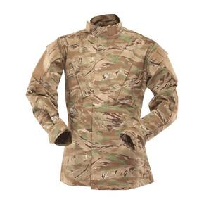 Tru-Spec Tactical Ripstop Jacket - 50/50 Nylon/Cotton All Terrain Tiger Stripe Small