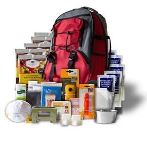 Wise Five Day Emergency Survival Kit Backpack For One Person-32 Servings Red