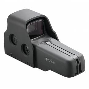 EOTech 517 Weapon Sight - AA bttry w/bttns on leftofunit retcle pattern w/65 MOA ring & 1MOA dot demo