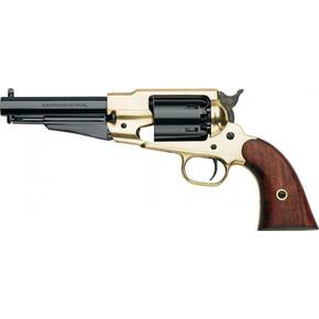 Pietta 1858 Remington Texas Sheriff Brass Frame Muzzleloader Pistol with Walnut Grips - .44 cal 5-1/2""