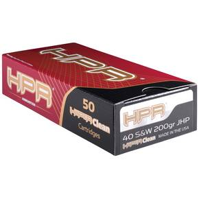 HPR Handgun Ammunition .40 S&W 200GR JHP 901 901 fps 50/ct