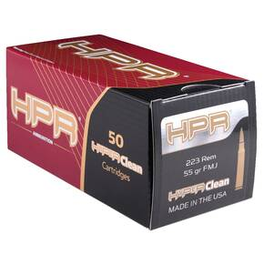 HPR Rifle Ammunition .223 Rem 55 gr FMJ 3223 fps 50/ct