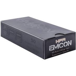 HPR Emcon Handgun Ammunition .45 ACP 230 gr TMJ 757 fps 50/ct