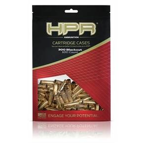HPR Ammo Unprimed Rifle Cartridge Cases .300 Blackout 100/Bagged