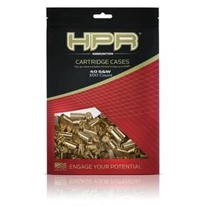 HPR Ammo Unprimed Rilfe Cartridge Cases .40 S&W 100/Bagged
