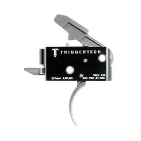 TriggerTech AR15 Competitive Curved Trigger 2 Stage Stainless Steel/Black