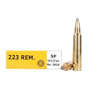 Sellier & Bellot Rifle Ammunition .223 Rem 55 gr SP 1006 fps - 20/box