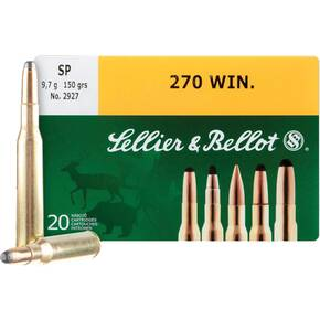 Sellier & Bellot Rifle Ammunition .270 Win 150 gr SP 2625 fps - 20/box