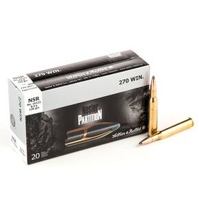 Sellier & Bellot Nosler Partition Rifle Ammunition .270 Win 130 gr PT  - 20/box