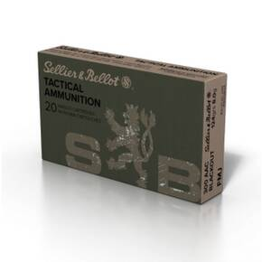Sellier & Bellot Match Rifle Ammunition .300 AAC Blackout 124 gr 2165 fps FMJ 20/ct