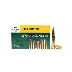 Sellier & Bellot Rifle Ammunition .303 British 180 gr SP 2382 fps 20/ct