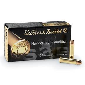 Sellier & Bellot Handgun Ammunition .357 Mag 158gr LFN 1125 fps 50/ct