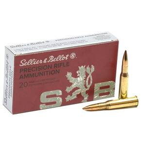 Sellier & Bellot Rifle Ammunition 7.62x54R 174 gr HPBT 2600 fps 20/ct