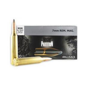 Sellier & Bellot Nosler Partition Rifle Ammunition 7mm Rem Mag 175 gr PT  - 20/box