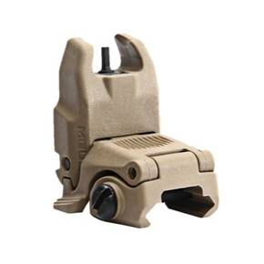 Magpul  MBUS Back Up Sight  Generation II  Fits Picatinny  Flat Dark Earth   Front  Flip Up MAG247-FDE