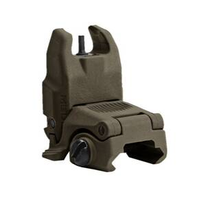 Magpul  MBUS Back Up Sight  Generation II  Fits Picatinny  OD Green   Front  Flip Up MAG247-OD