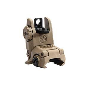 Magpul  MBUS Back Up Sight  Generation II  Fits Picatinny  Flat Dark Earth   Rear  Flip Up MAG248-FDE